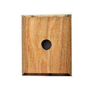 Befæstningsglade i fyrretræ kvadratisk flad