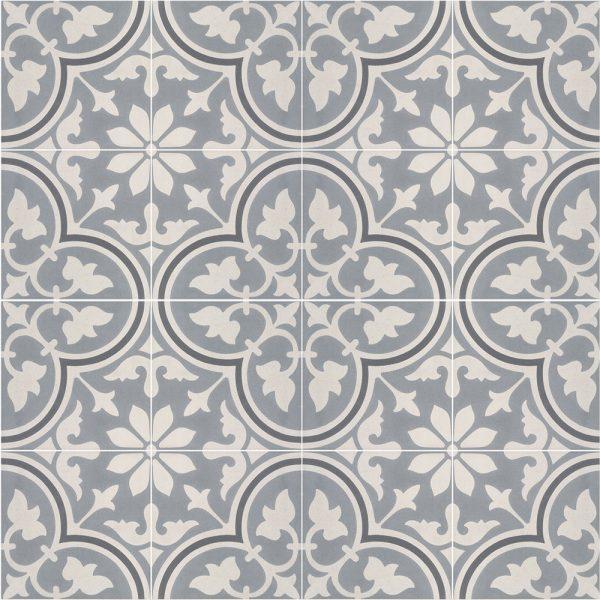 Sammensætning af 4 historiske fliser med Italiensk motiv, som danner et smukt mønster