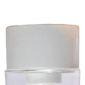 Porcelænssokkel udendørs og vådrum IP54 hvid lige