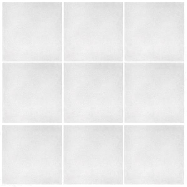 Historisk flise i ensfarvet hvid