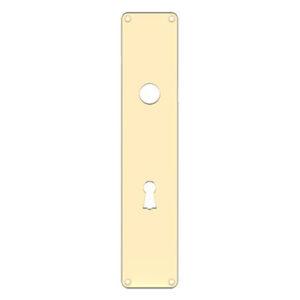 Eskan45 langskilt i messing med nøglehul