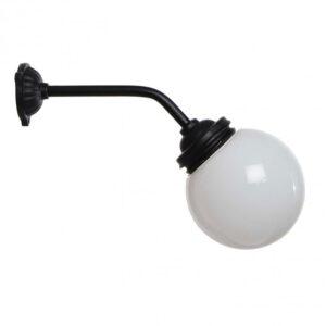gårdlampe med kort lige arm hvid