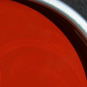 Linoliemaling indendørs i farven brændt siena