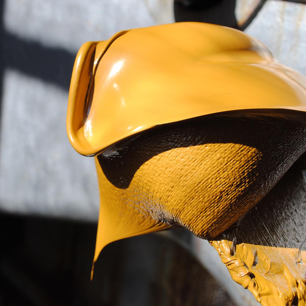 Linoliepasta der anvendes i produktion af linoliemaling guldokker