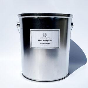 Linolie trætjære i metal spand