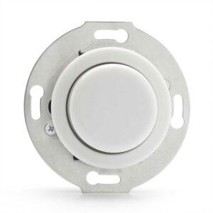 Hvid lysdæmper til porcelænsserie