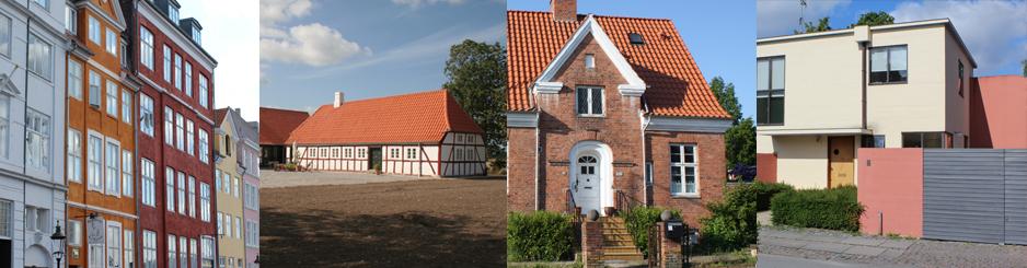 Forskellige typer af boligtyper fra før 1960erne