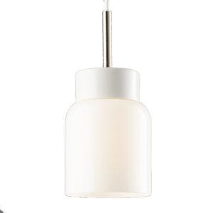 glaspendel-åben-porcelænssokkel-hvid-hvid skærm