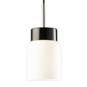 glaspendel-åben-porcelænsokkel-sort-hvid-skærm
